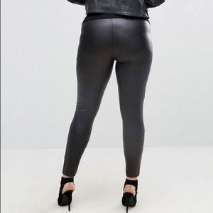 6e51df3d074a55 ASOS Curve Pants - ASOS Curve Leather Look Leggings NEW size 22